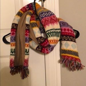 colorful winter scarf